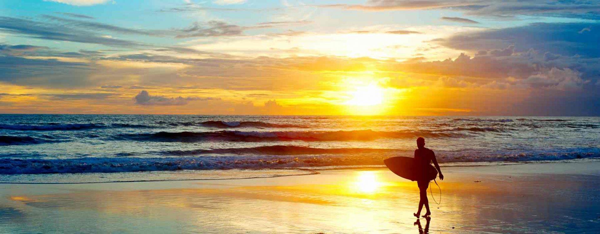 Sunset, Bali strand