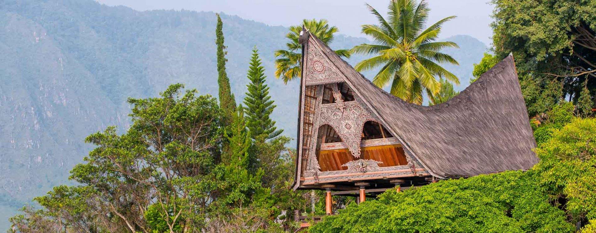 Batak huis op Sumatra