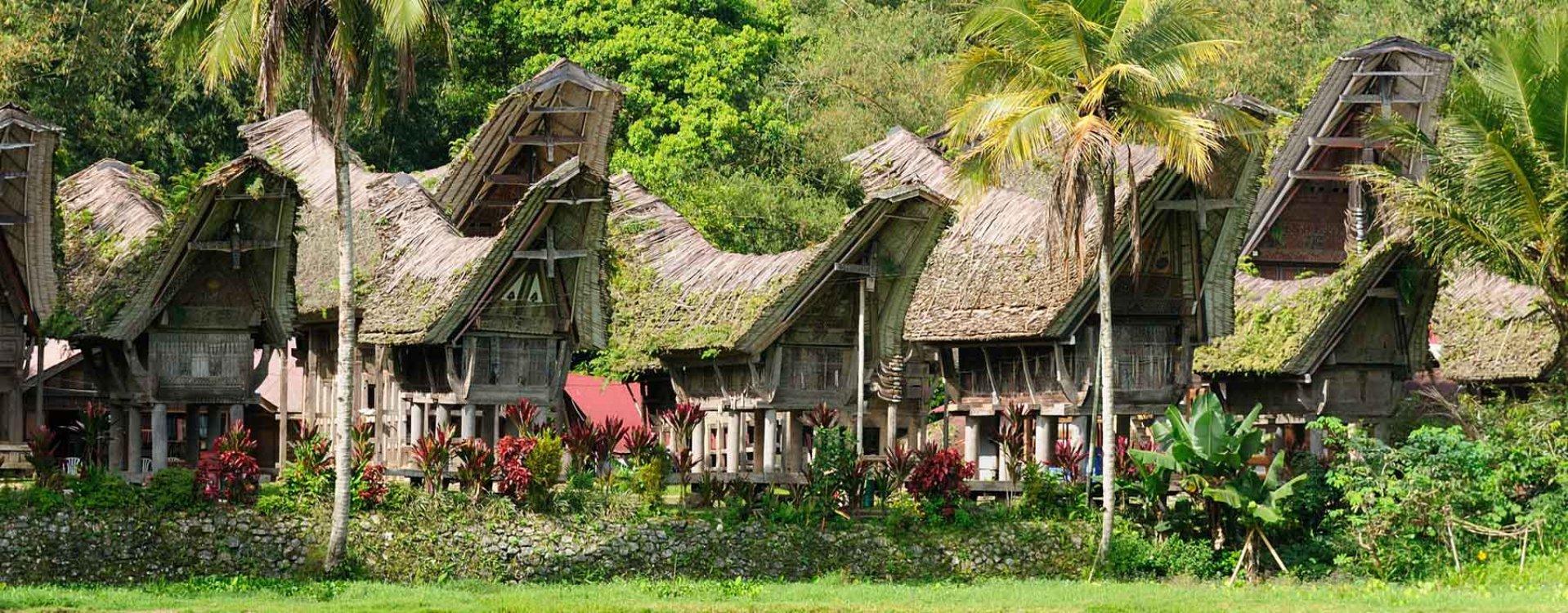 Dorp in Torajaland, Sulawesi