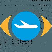 Pictogram transport 'vliegen en vluchtkeuze'