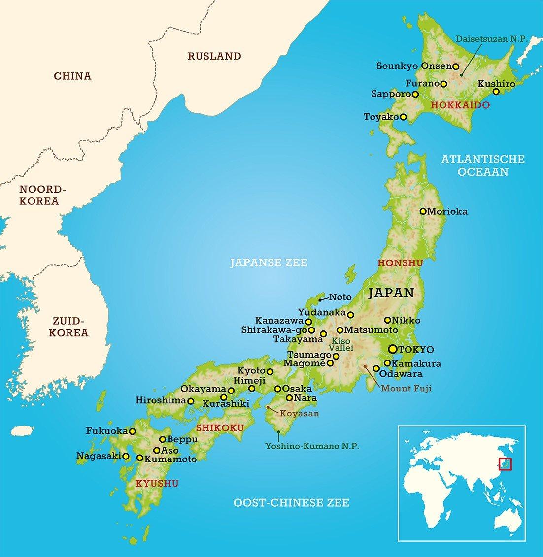 Japan landkaart