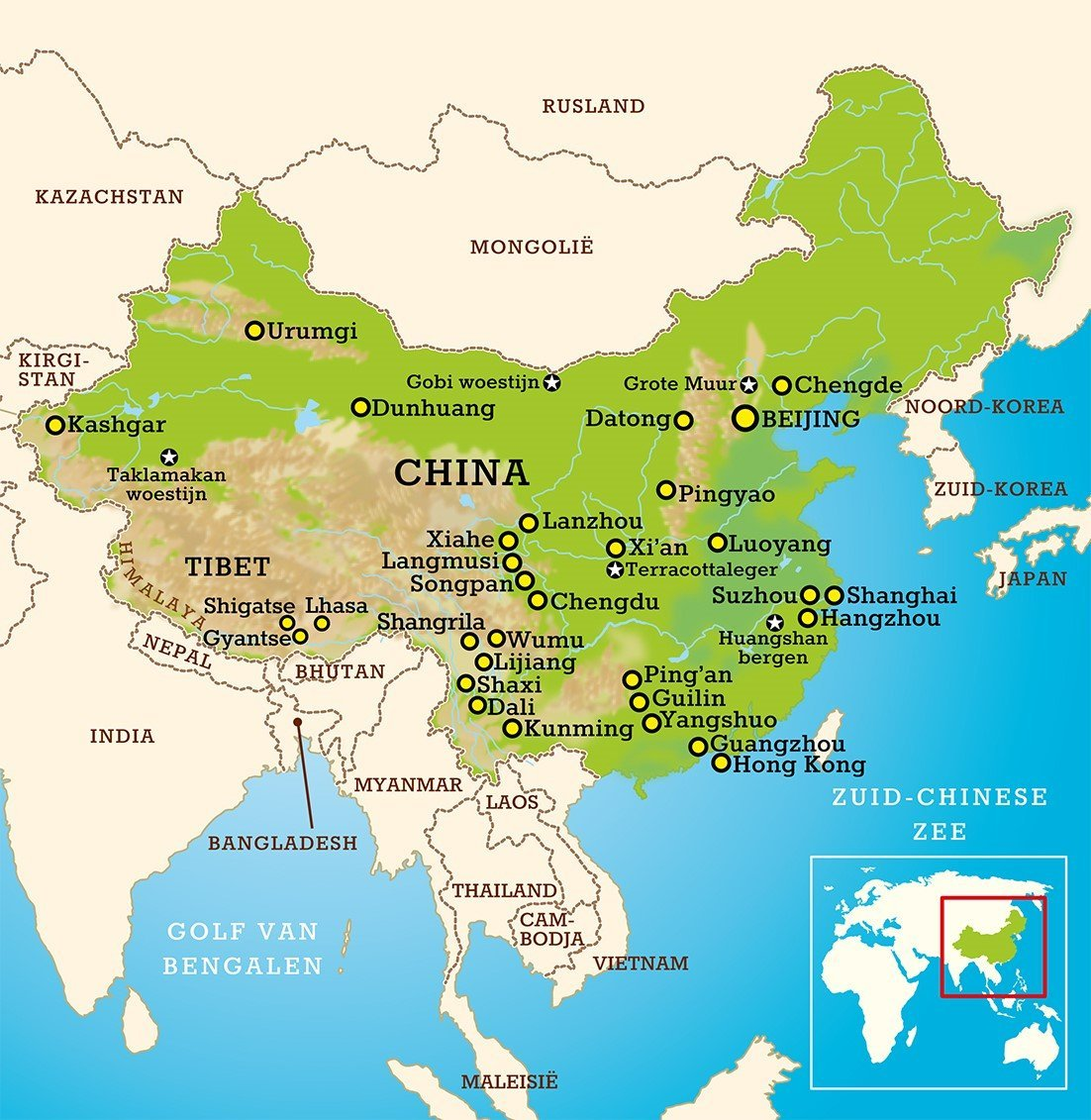 Landkaart China